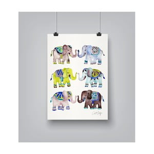 Poster Americanflat Elephant Collection, 30 x 42 cm