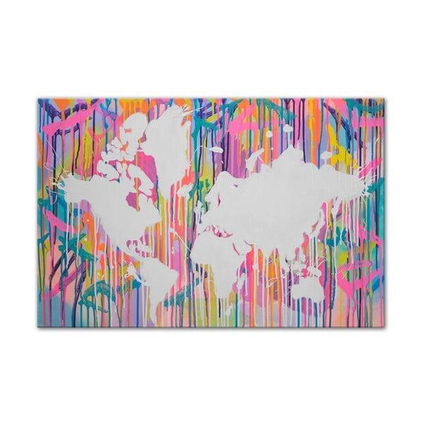 Obraz Around the World II, 60x90 cm