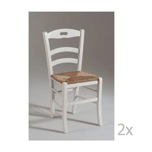 Sada 2 bílých dřevěných židlí Castagnetti Venice