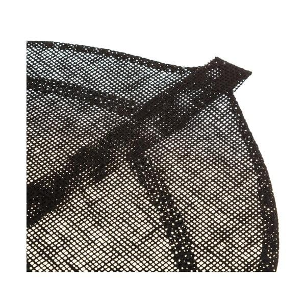 Černé prostírání ve tvaru listu Unimasa, 50 x 33 cm