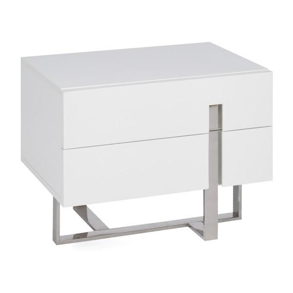 Bílý noční stolek Ángel Cerdá Ernesta