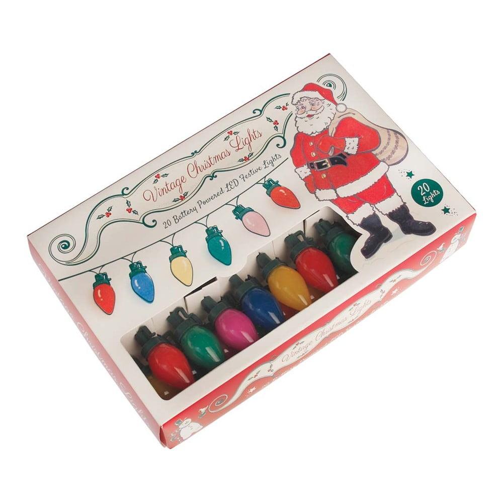 Retro vánoční světelný řetěz Rex London
