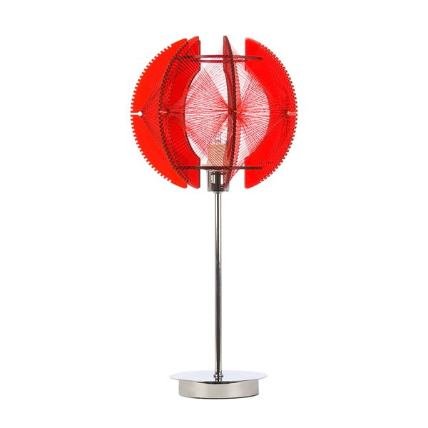 Stolní lampa Wire, červená