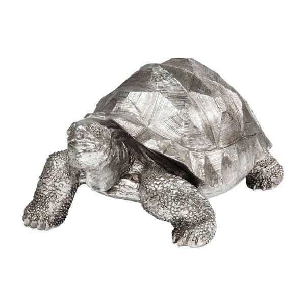 Dekorativní soška želvy ve stříbrné barvě Kare Design Turtle