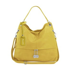 Žlutá kožená kabelka Maison Bag Evelyne