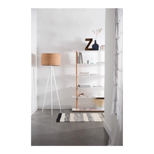 Korková stojací lampa s bílými nohami Zuiver Tripod