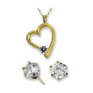 Set náušnic a náhrdelníku Corazón