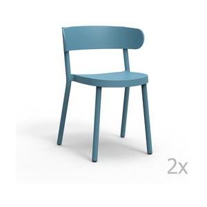 Sada 2 modrých zahradních židlí Resol Casino