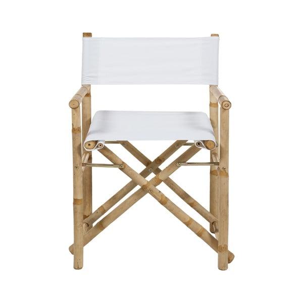 Krzesło bambusowe z białym siedziskiem Santiago Pons Hollywood