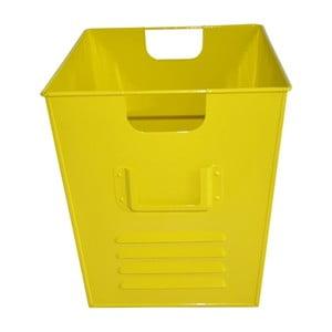 Plechový koš Waterquest 34x30 cm, žlutý