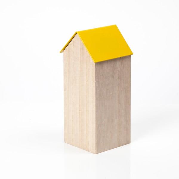 Žlutý úložný box House Large