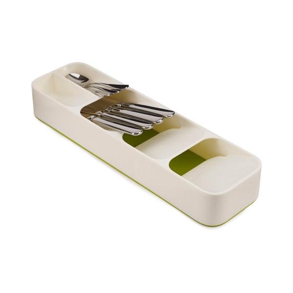 DrawerStore fehér-zöld kompakt evőeszköztartó - Joseph Joseph