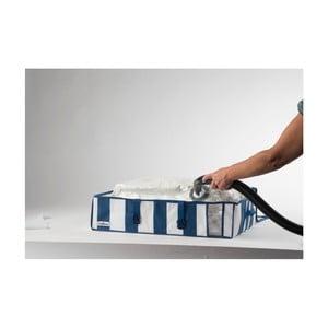 Organizator vacuum Compactor Ecvellence, volum 145 litri, albastru - alb