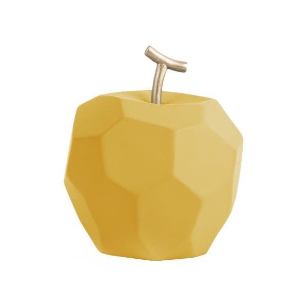 Decorațiune din beton PT LIVING Origami Apple, galben ocru mat