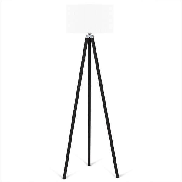 Czarny lampa wolnostojąca z białym kloszem lampa Kate Louise Siyah