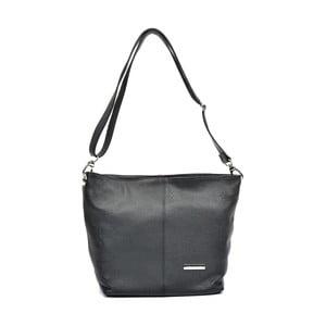 Černá kožená kabelka Luisa Vannini Frahia