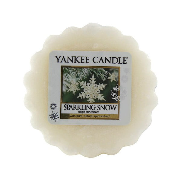 Ceară parfumată pentru lămpi aromaterapie Yankee Candle Sparkling Snow, durată aromă 8 ore