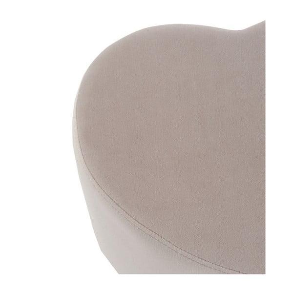 Béžový sedací puf ve tvaru srdce J-Line