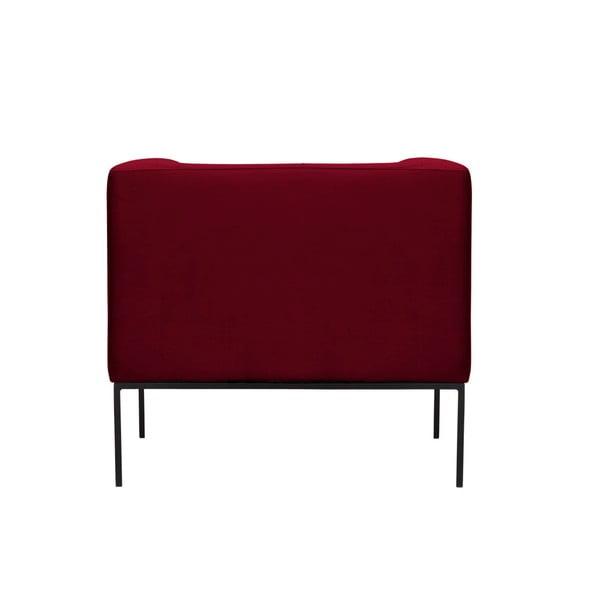 Červené sametové křeslo Windsor & Co Sofas Neptune