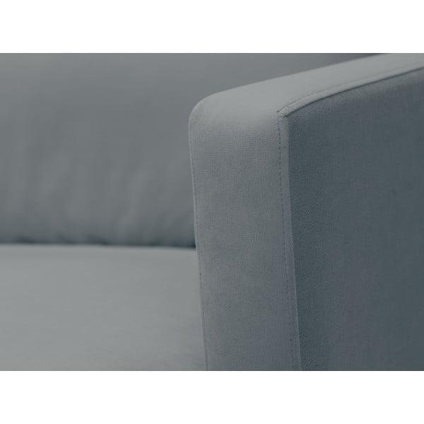 Šedá trojmístná pohovka s podnožím v černé barvě Windsor & Co Sofas Jupiter