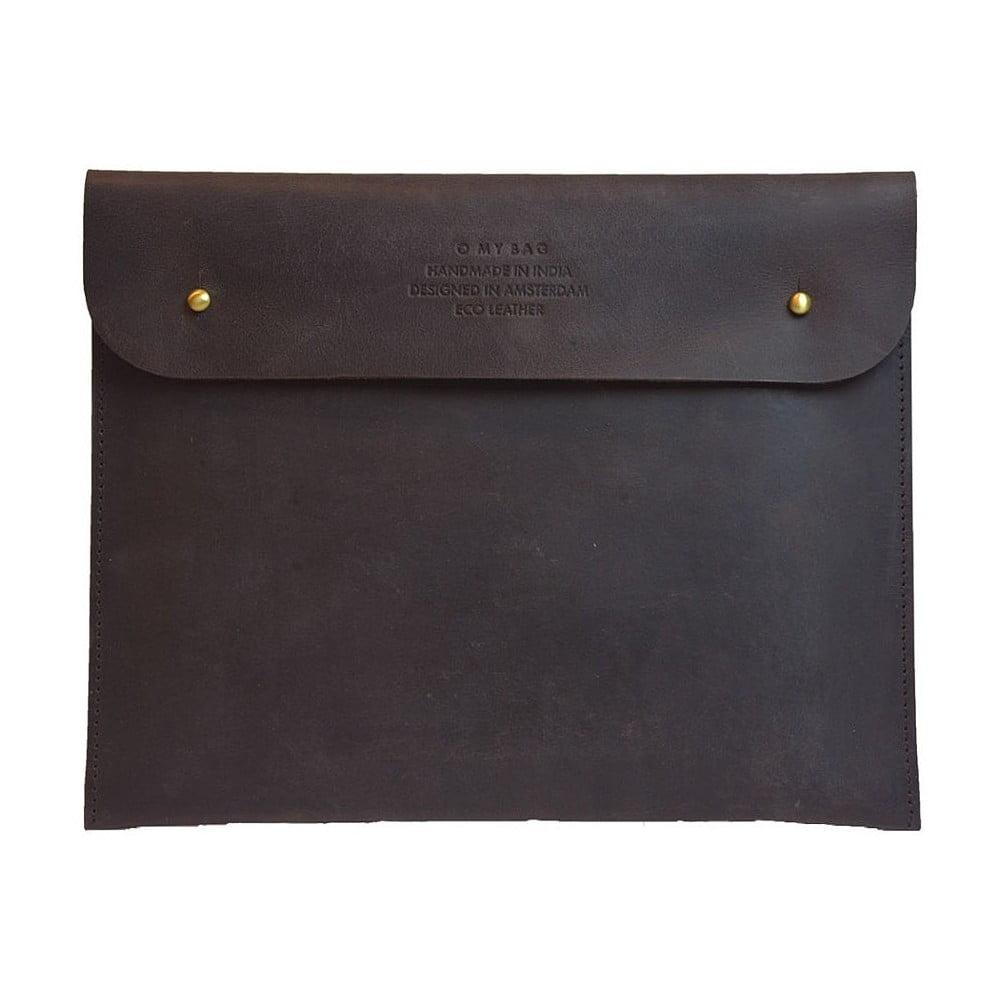Tmavě hnědé kožené pouzdro na iPad O My Bag Sleeve
