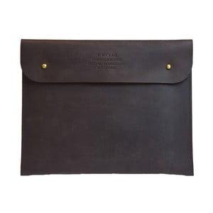Husă din piele pentru iPad O My Bag Sleeve, maro închis