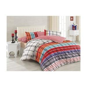 Lenjerie de pat cu cearșaf din bumbac Saris, 200 x 220 cm