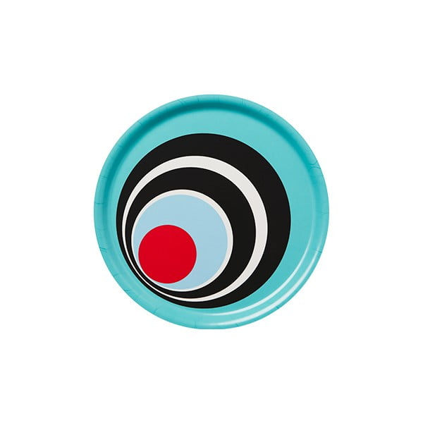 Dřevěný podnos Tray Bleu Circle