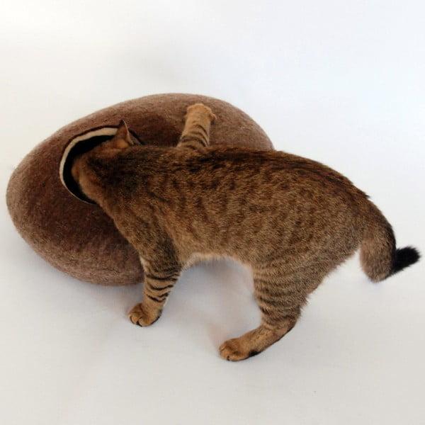 Plstěný pelíšek pro kočku Ulita brown