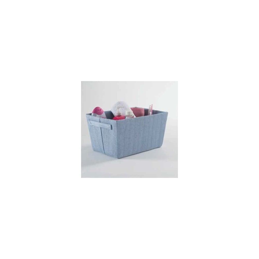 Světle modrý úložný košík Compactor Rope, šířka32,5cm