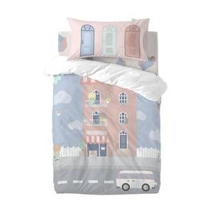 Dětské povlečení z čisté bavlny Happynois Neighbor, 115x145cm