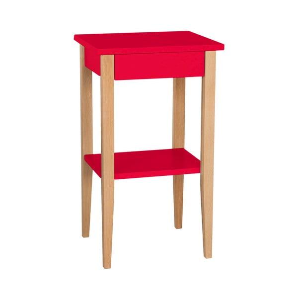 Červený odkládací stolek Ragaba Entlik