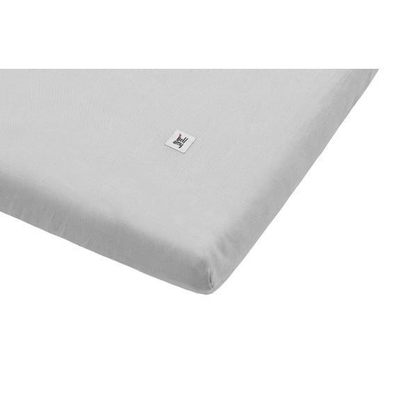 Sivá detská ľanová plachta BELLAMY Stone Gray, 90×200 cm