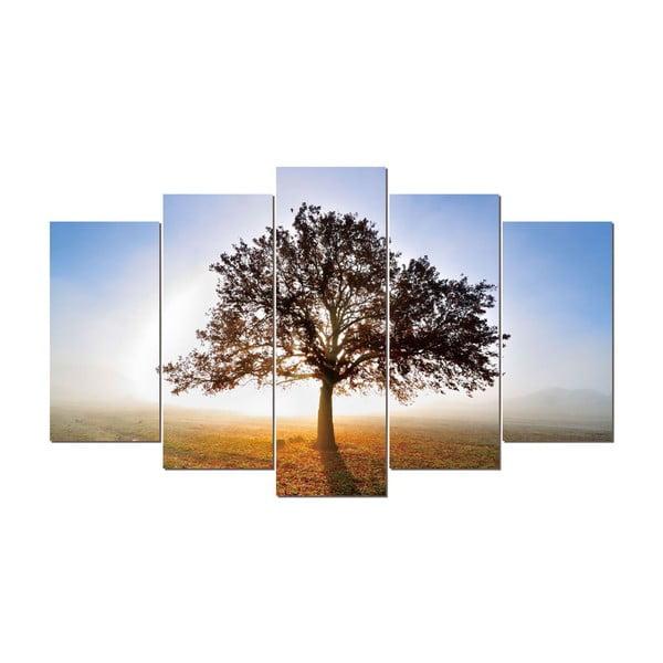 5dílný obraz Tree, 60x100 cm