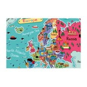 Tablou Homemania Maps Europe Pictures, 70 x 100 cm