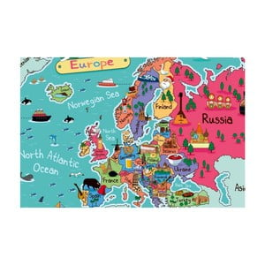 Tablou Homemania Maps Europe Pictures, 70 x 100 cm