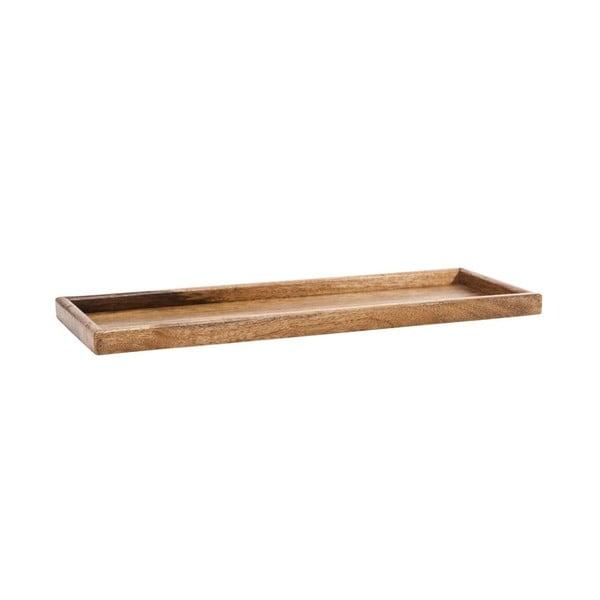 Ručně vyrobený dřevěný podnos NORR11 Bubbles, 70x25cm