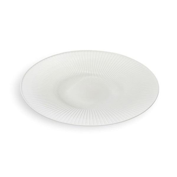 Biely kameninový tanier Kähler Design Hammershoi Dish, ⌀ 40 cm
