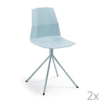 Set 2 scaune La Forma Pixel, albastru de la La Forma