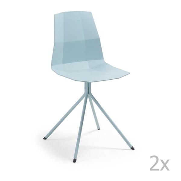 Set 2 scaune La Forma Pixel, albastru