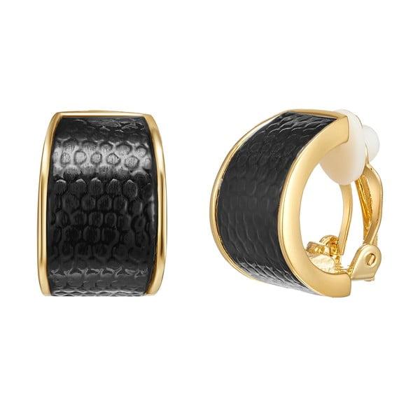 Omega Delta fekete-arany színű női fülbevaló - Runaway