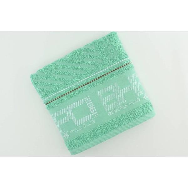 Mentolový bavlněný ručník BHPC, 50x100 cm