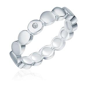 Stříbrný prsten s pravým diamantem Tess Diamonds Argi, vel.58