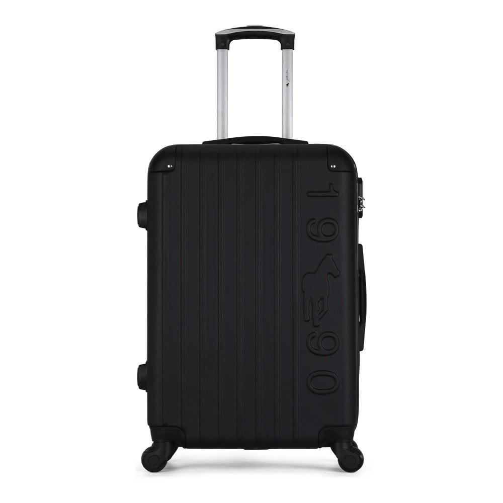 Černý cestovní kufr na kolečkách GENTLEMAN FARMER Valise Grand Cadenas Integre Malo, 51 x 75 cm