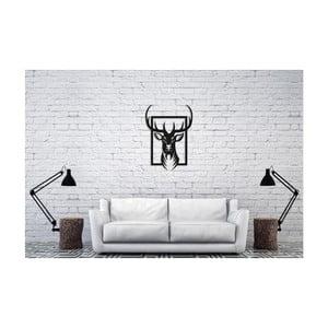 Černá nástěnná dekorace Oyo Concept Deer, 40x60cm