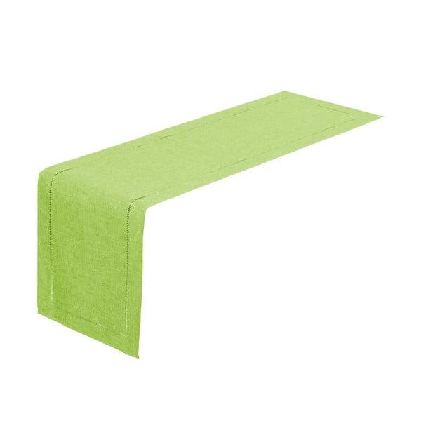 Limonkowy bieżnik na stół Unimasa, 150x41 cm