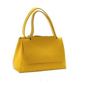 Žlutá kabelka z pravé kůže Andrea Cardone Muskala