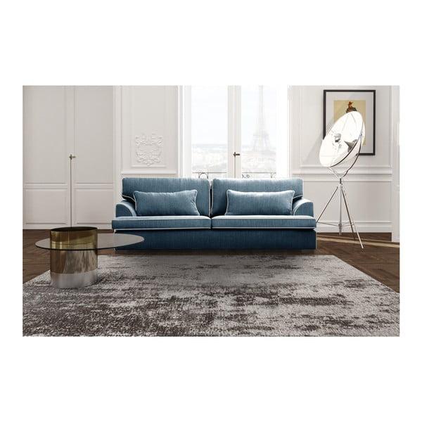 Modrá 4místná pohovka s krémovým lemováním Rodier Ferrandine
