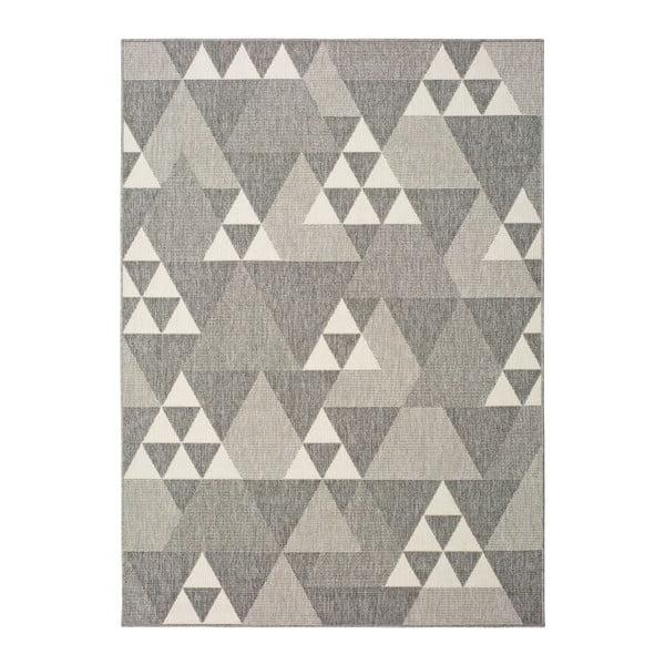 Covor pentru exterior Universal Clhoe Triangles, 80 x 150 cm, bej-gri