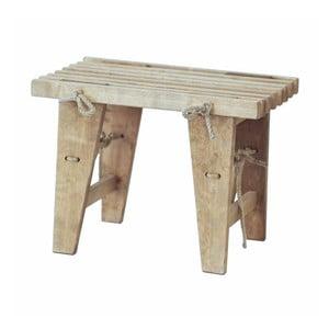 Lavička z šedého jasanového dřeva EcoFurn, délka 60 cm